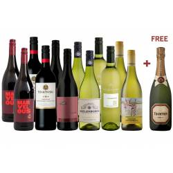 Best Value MIXED Wine Plus Free Bubbly (12)