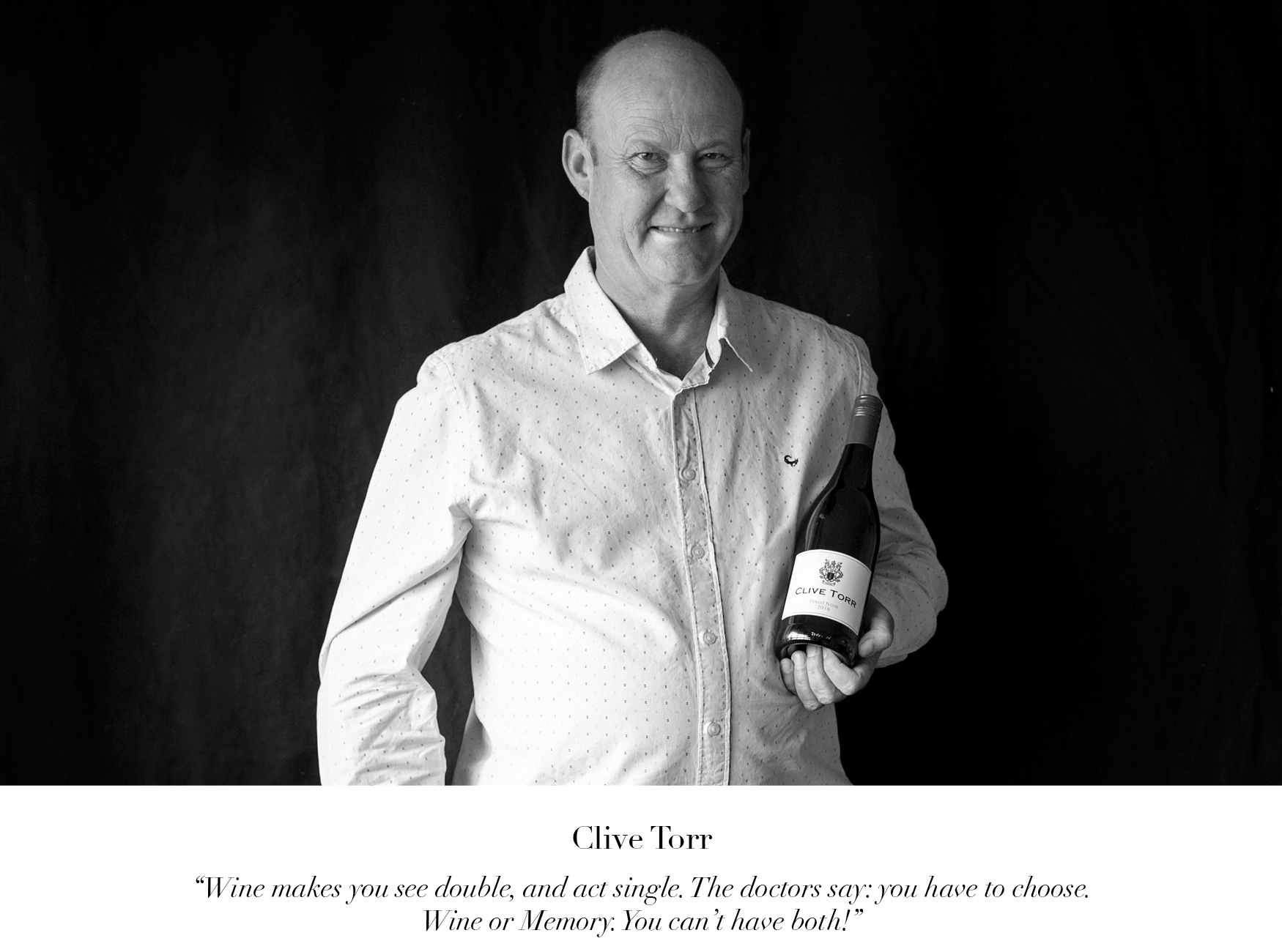 Clive Torr Wine of the Month Club wine judge