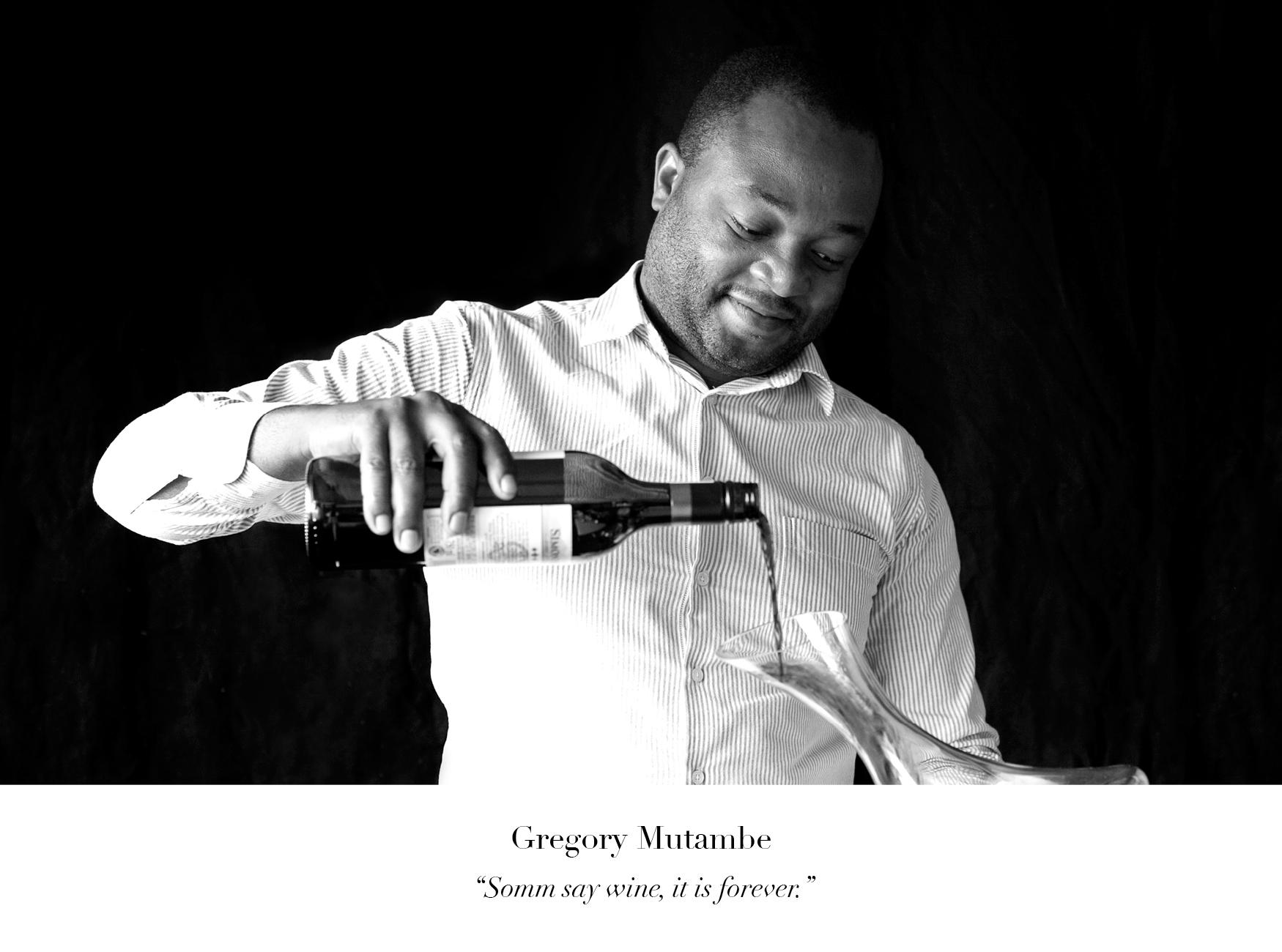Gregory Mutambe Wine of the Month Club wine judge