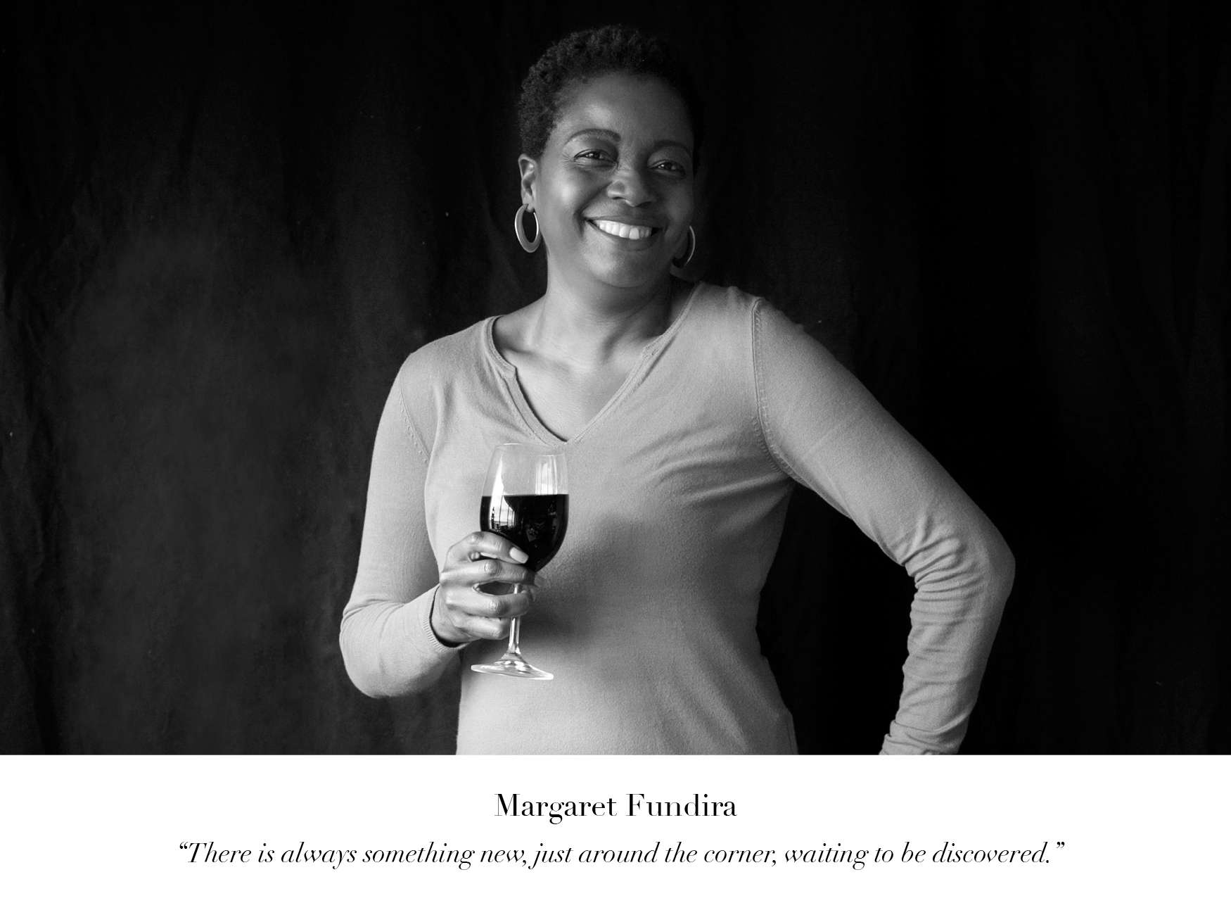 Margaret Fundira Wine of the Month Club wine judge