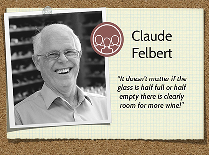 Claude Felbert Wine of the Month Club wine judge
