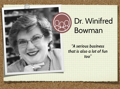 Dr. Winifred Bowman Wine of the Month Club wine judge