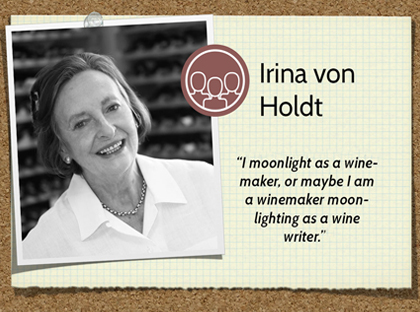 Irina von Holdt Wine of the Month Club wine judge